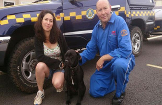 Mid Devon Star: Coastguards reunite missing dog with owners in Torbay