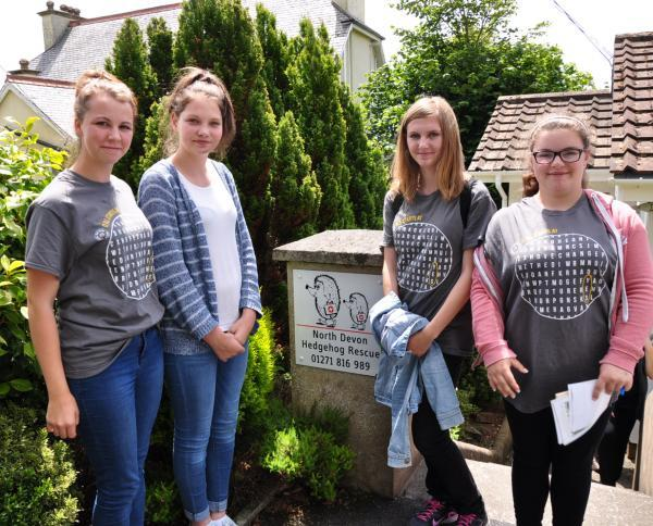 Tiverton NCS Team act to help hedgehogs