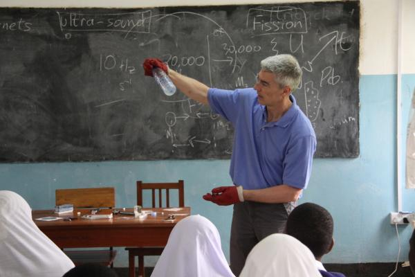 Exeter professor takes African pupils on a scientific journey, from the Rubik's Cube to the building blocks of the universe