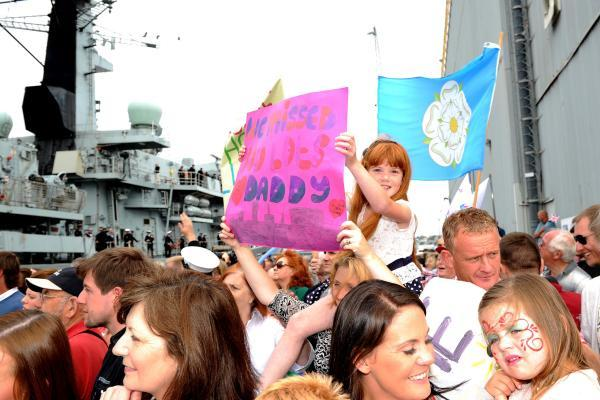 Royal Navy warship welcomed home from patrol