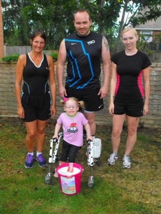 Exeter family take on city's Great West Run for 'Stepping with Sophie' appeal
