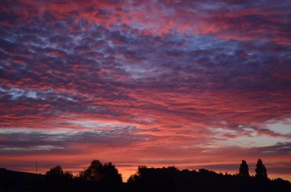 SUNRISE with stratocumulus clouds on August 24. PHOTO: Warren Radmore