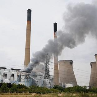 A fire at Ferrybridge power station