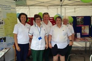 Trust staff showcase local NHS services at Crediton Festival
