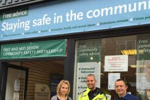 Coffee Morning as the Tiverton Community Safety Shop says goodbye