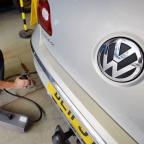 Mid Devon Star: A Volkswagen Passat is tested for exhaust emissions